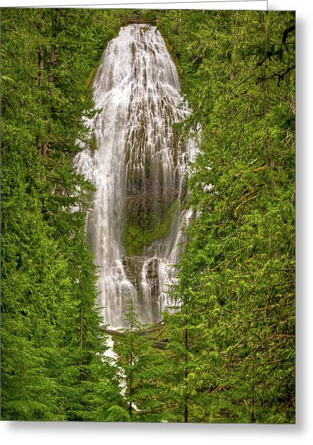 Fall River Scenes Greeting Cards - Proxey Falls Oregon Greeting Card by Connie Cooper-Edwards