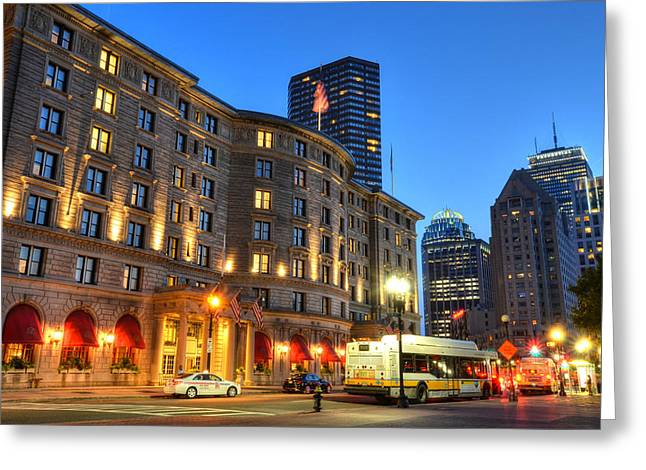 Boston Ma Greeting Cards - Prudential Fairmont Copley Plaza Boston MA Greeting Card by Toby McGuire
