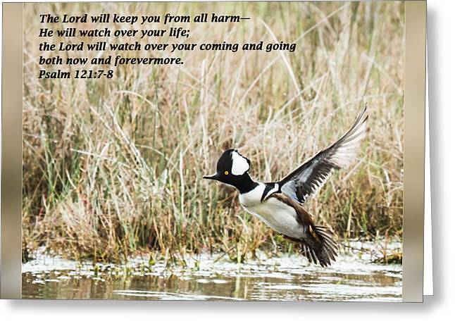 Psalm One Greeting Cards - Psalm 121 7-8 Greeting Card by Dawn Currie