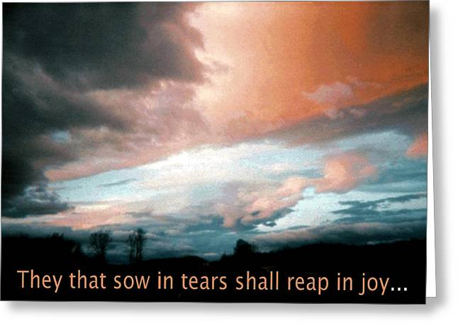 Paul Lyndon Phillips Greeting Cards - Psalm 126-  Reap in Joy  - -34021f Greeting Card by Paul Lyndon Phillips