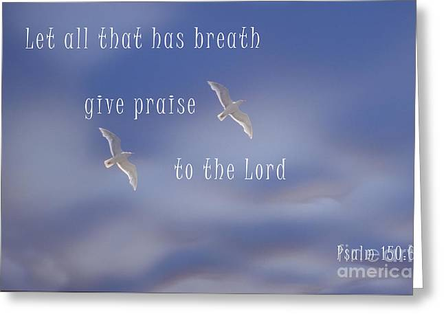 Psalm 150 Greeting Card by Sharon Elliott