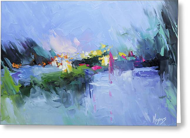 Psalm 29 God In The Storm Greeting Card by Mike Moyers