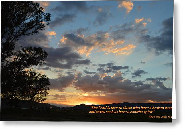 End Of Day Greeting Cards - Psalm 34 Eighteen Greeting Card by Glenn McCarthy
