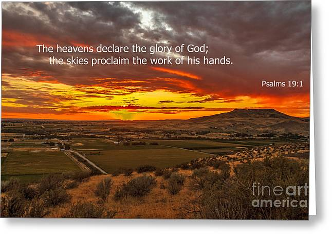 Christian Bale Greeting Cards - Psalms Greeting Card by Robert Bales