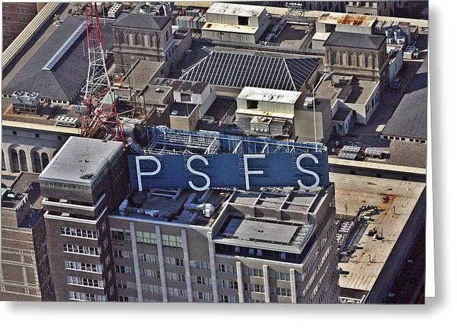 Office Buiding Greeting Cards - PSFS Building Greeting Card by Duncan Pearson