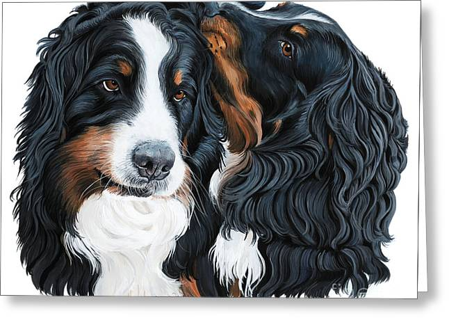 Bernese Mountain Dog Greeting Cards - Psssst Greeting Card by Liane Weyers