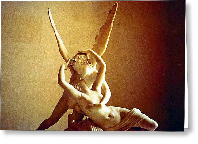 Psyche And Cupid Greeting Card by Michael Durst