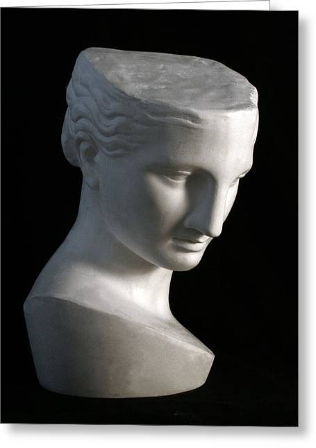 Bust Sculptures Greeting Cards - Psyche of Capua Greeting Card by Andrea Felice