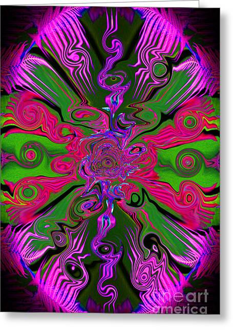Unwind Digital Greeting Cards - Psychedelic Abstract  Greeting Card by Jim Fitzpatrick
