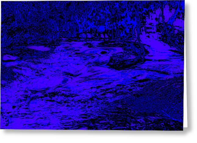 Abstract Digital Photographs Greeting Cards - Psychedelic Abstract Waterscape Greeting Card by Julie Wooden
