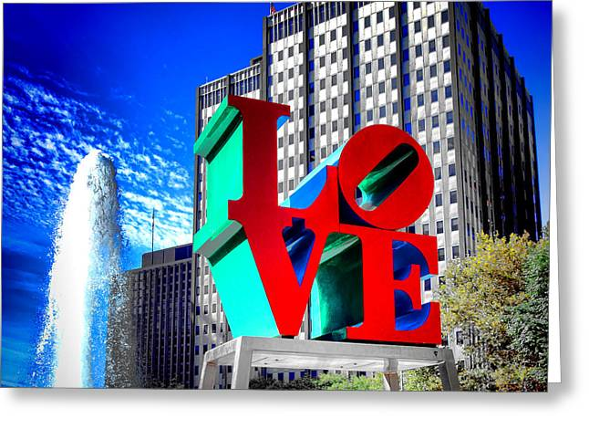 Downtown Indiana Greeting Cards - Psychedelic Love  Greeting Card by Olivier Le Queinec