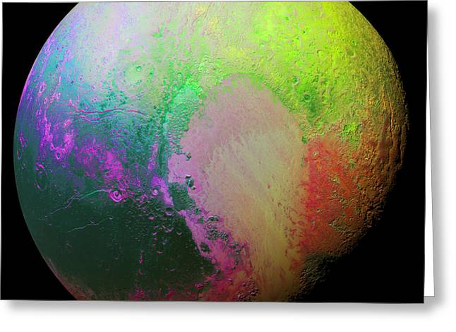Psychedelic Pluto Greeting Card by Nasa