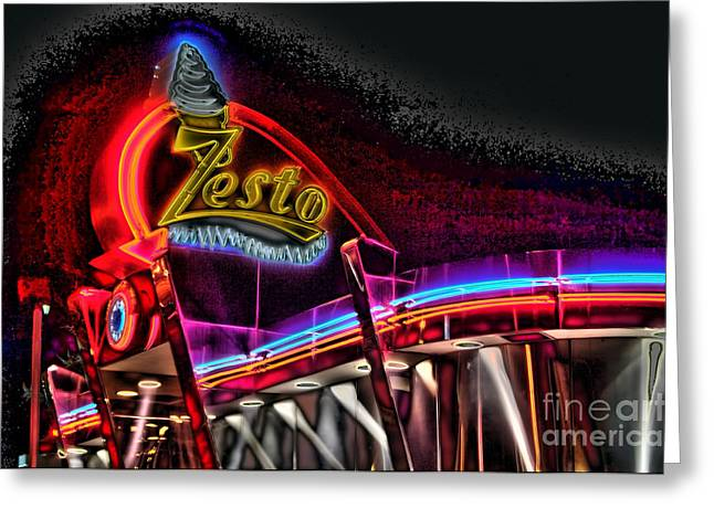 Psychedelic Zestos Greeting Card by Corky Willis Atlanta Photography
