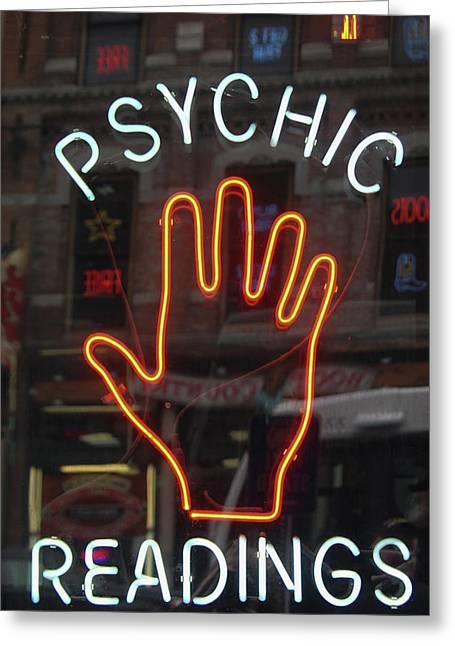 Psychic Readings Greeting Card by Heidi Brandt