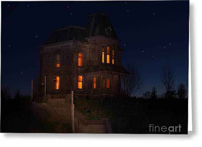 Psycho House-bates Motel Greeting Card by Jim  Hatch