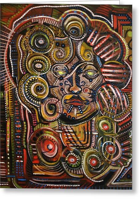 Psychotic Greeting Card by Michael Kulick