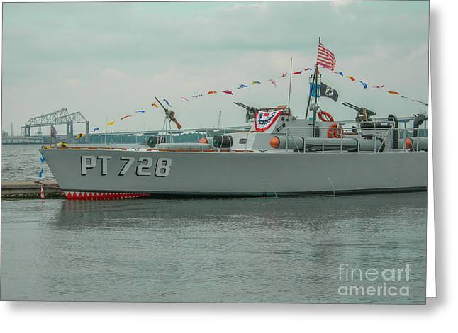 Pt 728 Torpedo Gunboat Greeting Card by Dale Powell