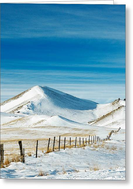 Pthalo Blue On White Greeting Card by Todd Klassy