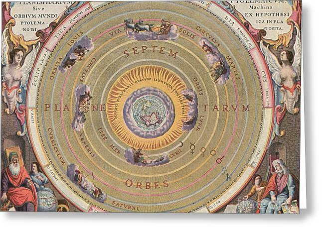 Macrocosmica Greeting Cards - Ptolemaic Universe, 1660 Greeting Card by Granger