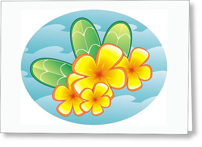 ; Maui Drawings Greeting Cards - Pua Aloalo Greeting Card by Brian Dahlen