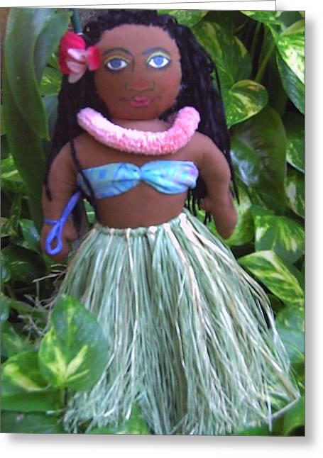 Dancer Tapestries - Textiles Greeting Cards - Pua LeiLani Greeting Card by Gordon Matthews