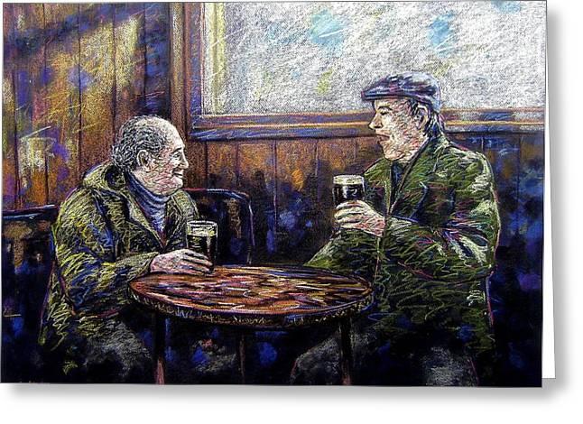 Pub Parlance Greeting Card by John  Nolan