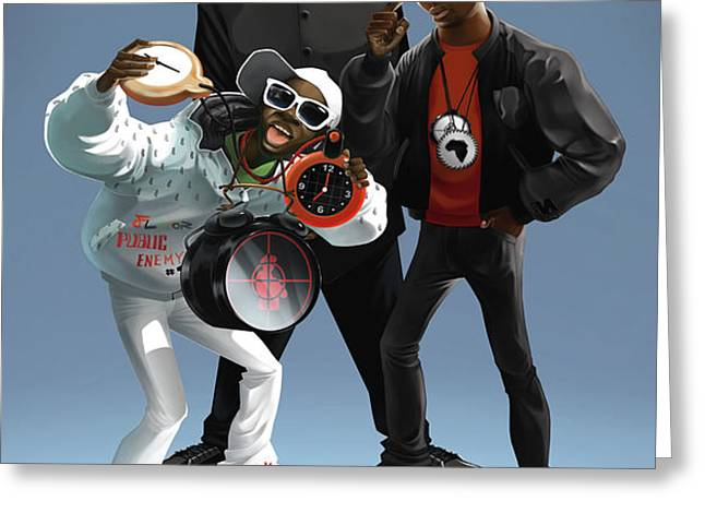 Public Enemy Greeting Card by Nelson Garcia