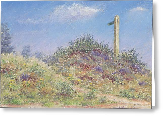 Signature Pastels Greeting Cards - Public Footpath Greeting Card by Anthony Rule