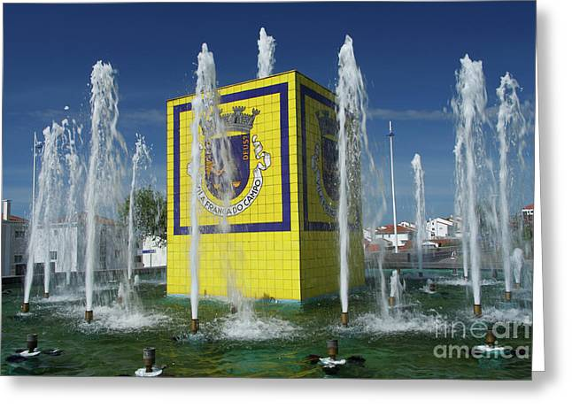 Public Fountain Greeting Card by Gaspar Avila