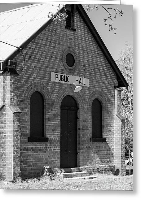Public Hall, Everton Greeting Card by Linda Lees