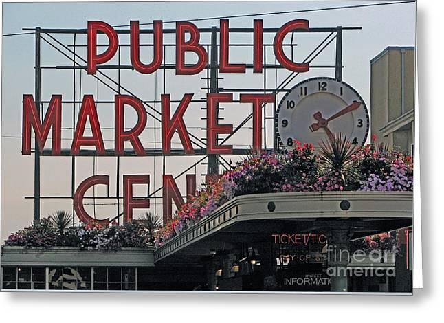 Chris Anderson Photography Greeting Cards - Public Market Greeting Card by Chris Anderson