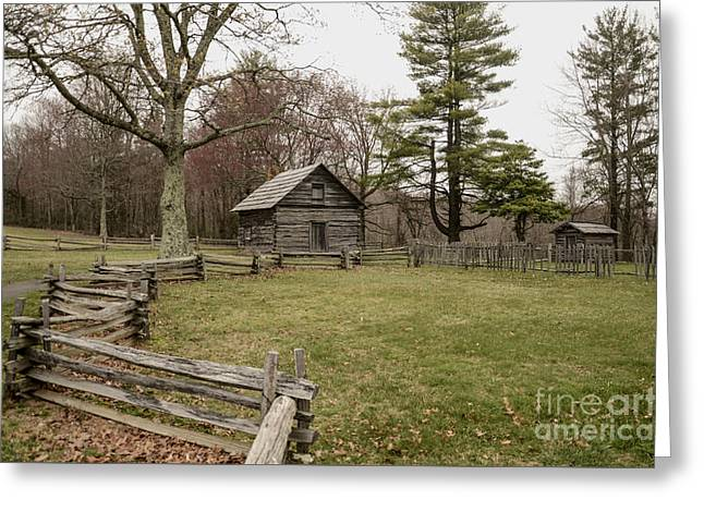 Puckett Cabin Greeting Card by Jim Cook