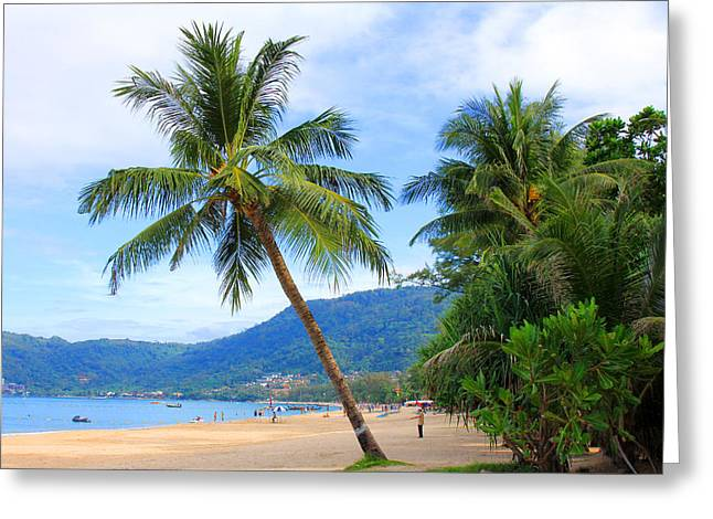 Phuket Patong Beach Greeting Card by Mark Ashkenazi