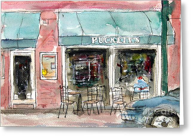 Pucketts Grocery Greeting Card by Tim Ross