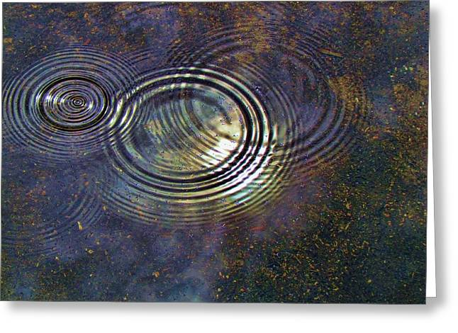 Digipho333 Studio Greeting Cards - Puddle Corona Greeting Card by Shannon Story