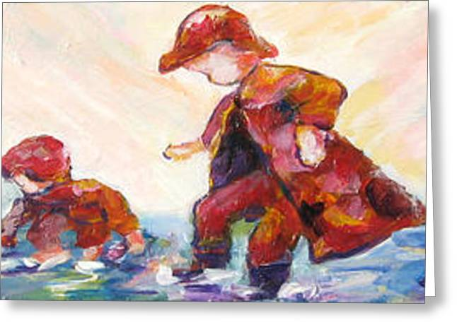 Puddle Jumpers Greeting Card by Naomi Gerrard