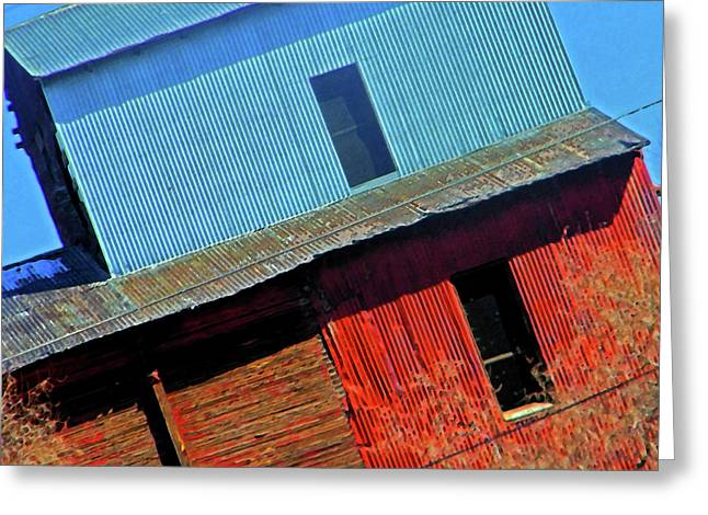 Pueblo Downtown--sweenys Feed Mill Greeting Card by Lenore Senior