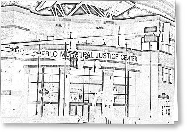 Pueblo Municipal Justice Center 2 Greeting Card by Lenore Senior