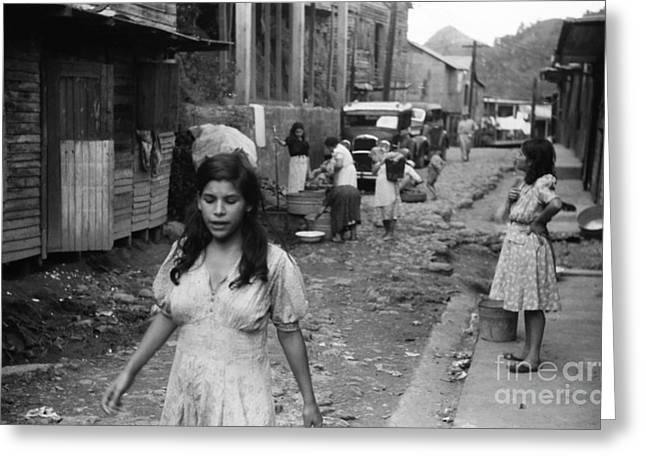 Puerto Rican Greeting Cards - Puerto Rico: Slum, 1942 Greeting Card by Granger