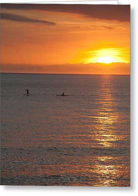 Puerto Vallarta Sunset Greeting Card by Sebastian Musial