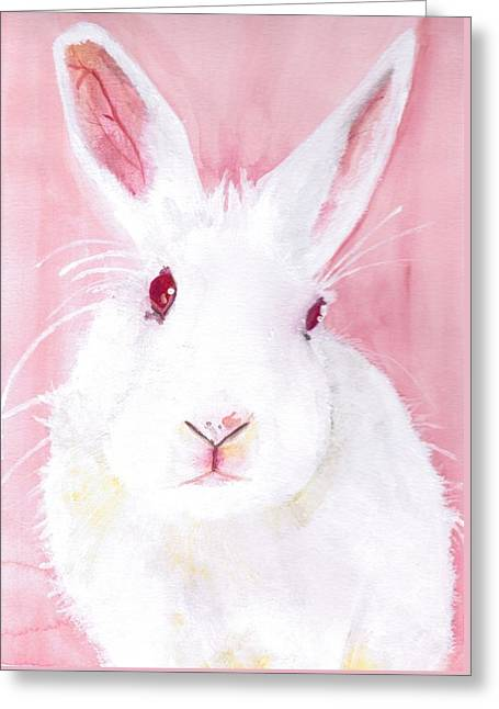 Medical Greeting Cards - Puff the red-eyed white beauty Greeting Card by Kelly Jay