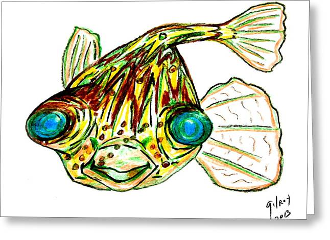 Puffer Fish Greeting Cards - Puffer Fish  Greeting Card by W Gilroy