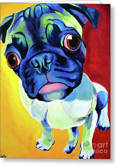 Pug - Lola Greeting Card by Alicia VanNoy Call