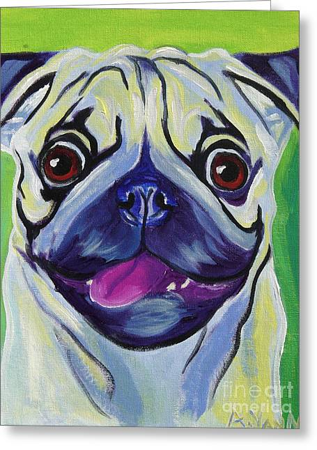 Pug Prints Greeting Cards - Pug - Pugilicious Greeting Card by Alicia VanNoy Call
