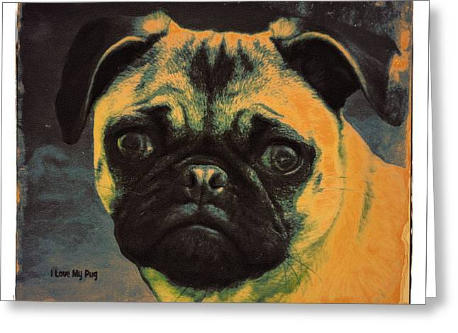 Puppies Photographs Greeting Cards - Pug Color Greeting Card by Image Takers Photography LLC - Carol Haddon