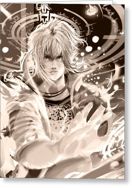 Final Fantasy Greeting Cards - Pulse Greeting Card by Darryl McClain