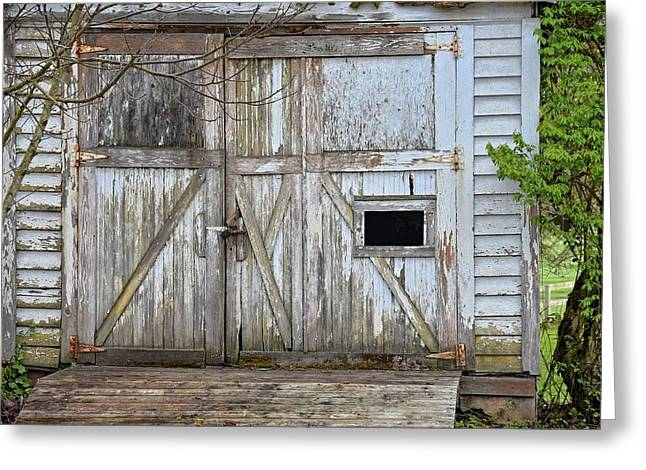 """oldest Wood Building"" Greeting Cards - Pump House Greeting Card by Brian Sears"