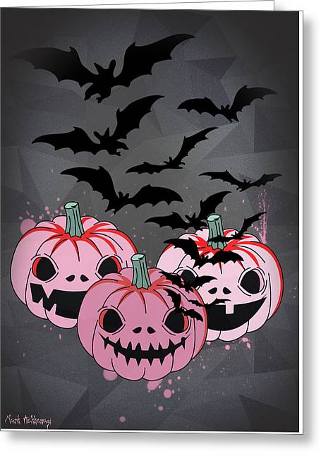 Classic Horror Greeting Cards - Pumpkin  Greeting Card by Mark Ashkenazi
