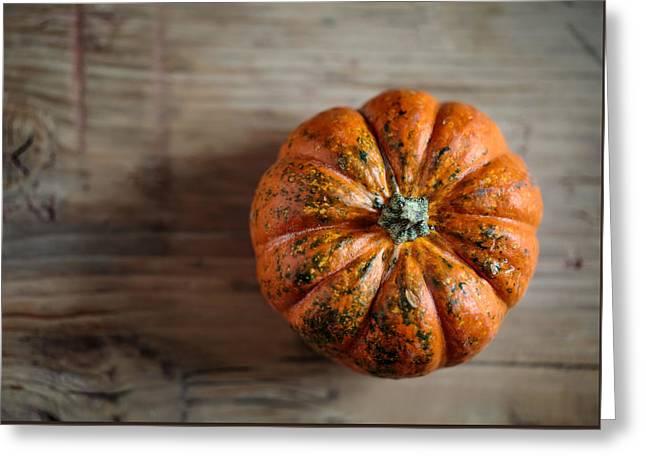 Pumpkin Greeting Card by Nailia Schwarz