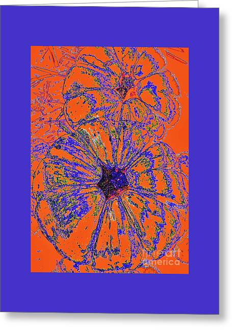 Bloosom Greeting Cards - Pumpkin Orange Flowers by Jasna Gopic Greeting Card by Jasna Gopic